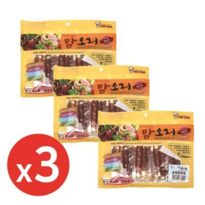 맘쿡(300g) 오리 연어포 x3개 강아지간식