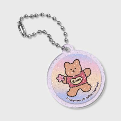 Circle Blossom bear heart(글리터키링-퍼플)