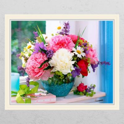 ta634-금전운의모란꽃화분01_창문그림액자