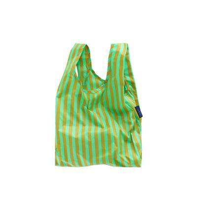 [바쿠백] 소형 베이비 에코백 장바구니 Lawn Stripe