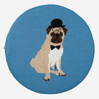 (Confiture) Dapper Seat Cushion - Pug