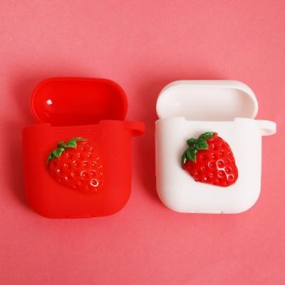 딸기 컵케익 에어팟케이스 키링