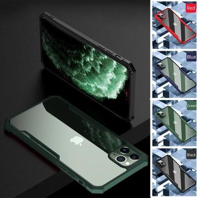 아이폰11 pro max 테두리 컬러 사각 범퍼 투명 케이스