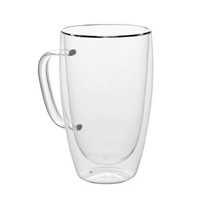 [로하티]크리스 이중 유리컵(450ml)/ 손잡이컵
