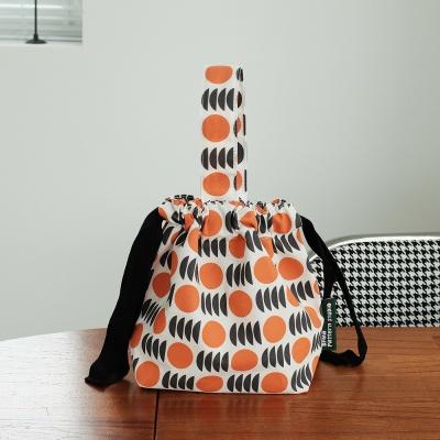 [BFMA P.STUDIO] 오렌지 패턴 스트링 토트백