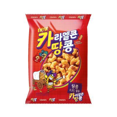크라운 카라멜콘 땅콩 과자 (중) 72g
