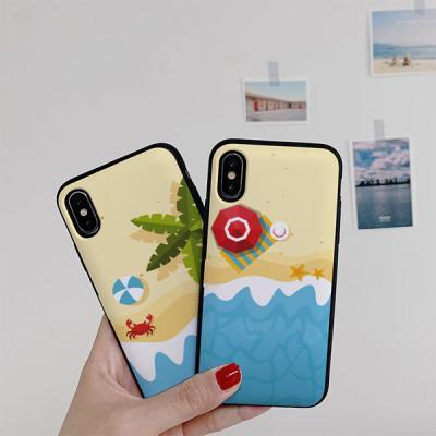 아이폰8 써니 해변 카드케이스