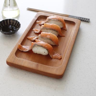마호가니 고기 접시- 소