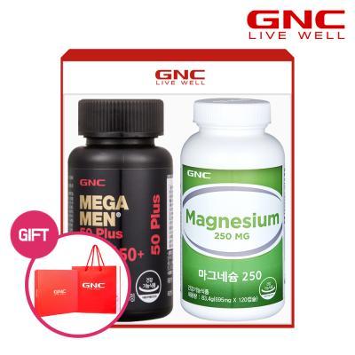 [GNC] 메가맨 멀티비타민 50 +마그네슘 250 선물세트