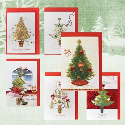 크리스마스카드/성탄절/트리/산타 크리스마스트리(FS1019SET)