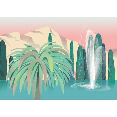 수영장 나무 / 일러스트 액자