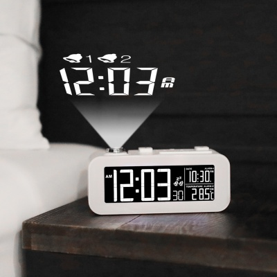 [무아스] 화이트빔 프로젝션 LED 시계