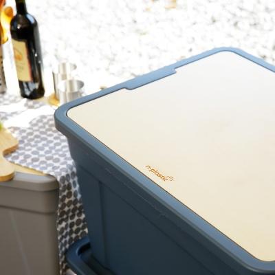 이동식 캠핑테이블박스(자이언트60L박스+원목테이블)