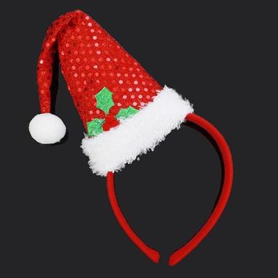 NEW 레드 크리스마스 산타모자 머리띠 성탄장식