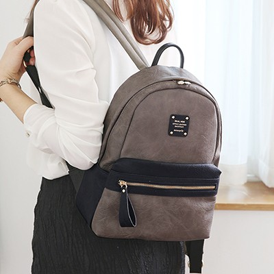 DUAL MINI OFFICE LEATHER BACKPACK  듀얼 미니 백팩