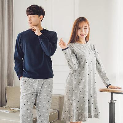 [쿠비카]폴라베어 프린팅 쭈리 원피스 커플잠옷 WM056