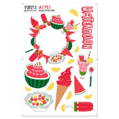 A1751-꾸밈인스스티커_수박디저트