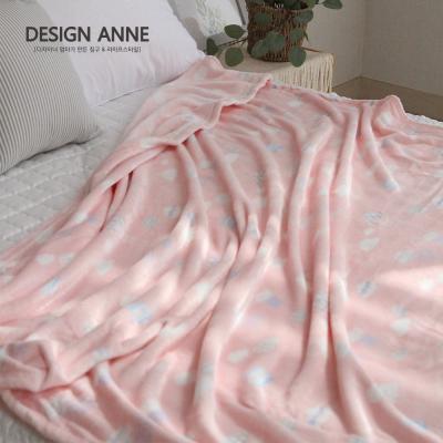 [디자인엔] 플라넬 극세사 구름 담요 중/대-핑크