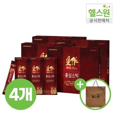 [헬스원] 황작 홍삼스틱 30포 30일분 x4개