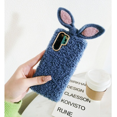 핸드폰/갤럭시노트10/10플러스/토끼귀 뽀글이케이스