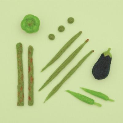 하마나카 초록 채소 키트 양모펠트