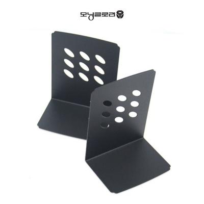 모닝글로리 CI L자 북앤드 블랙 책상 정리 용품