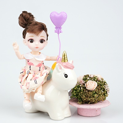 젤레나 16CM 샬롯 미니 구체관절인형 여아 장난감