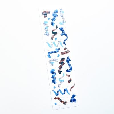 푸푸남 BLUE 체크페티 씰스티커