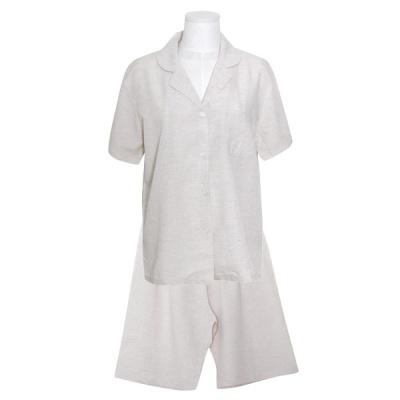 [쿠비카]심플 베이직 린네 투피스 여성잠옷 W780