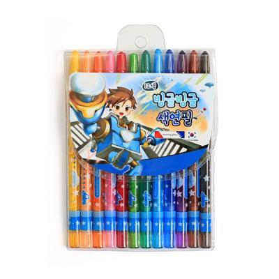 4000 빙글빙글 색연필 (12색/남)