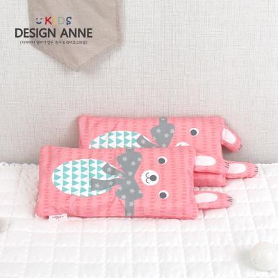 알러지케어 리본토끼 키즈메모리폼베개-핑크