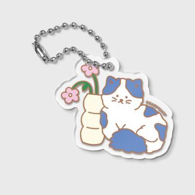 FLOWER CAT-BLUE(키링)