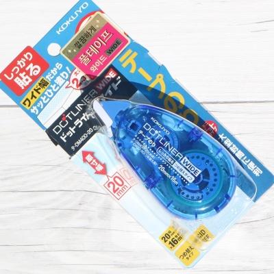 [KOKUYO] 20mm 넓은폭 풀테이프...고쿠요 투명 양면테이프 DOTLINER-Wide HC269