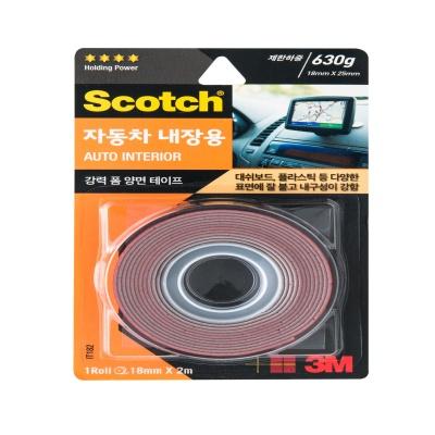 3M 스카치™ 강력 자동차 내장용 폼 양면테이프 IT182