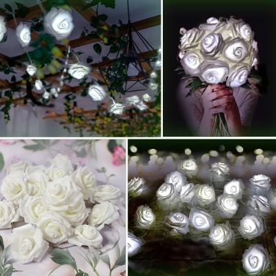 LED 가랜드 플라워 전구 꽃 인테리어조명 백색