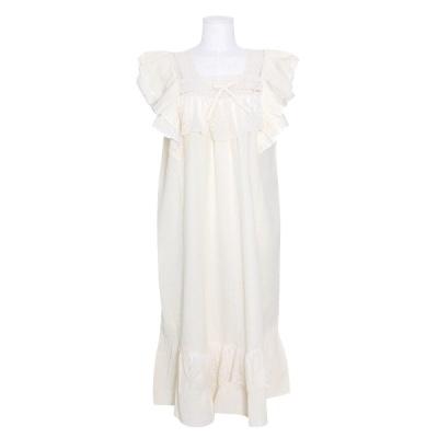 [쿠비카]입체 숄더 이중프릴 원피스 여성잠옷 W777