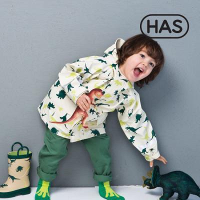 [헤즈] 쥬라기공원 윈드 워터프루프 유아동 레인코트(Dinosaur)