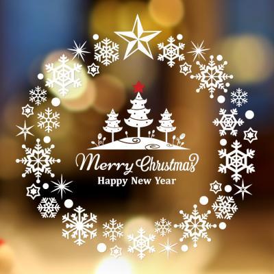제제데코 크리스마스 눈꽃 스티커 장식 CMS4J236
