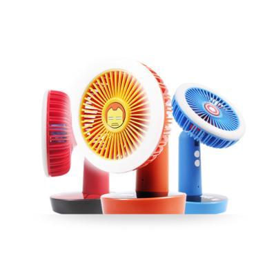 마블 어벤져스 LED 충전식 탁상겸 핸디선풍기+아답터