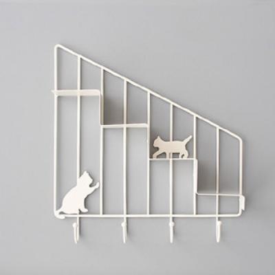 고양이 미니 선반(화이트) 선반 수납 추카추카넷