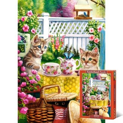 1000조각 직소퍼즐▶ 고양이들의 티타임 [LD103812]