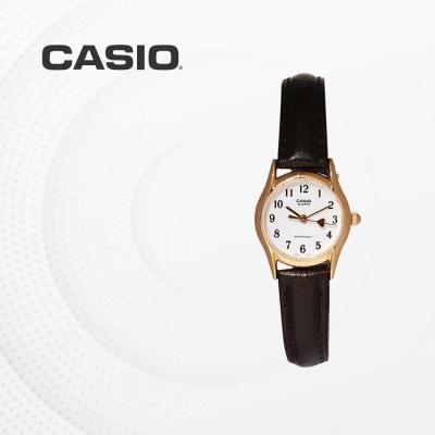 카시오 여성 여자 가죽 패션 손목시계 LTP-1094Q-7B5