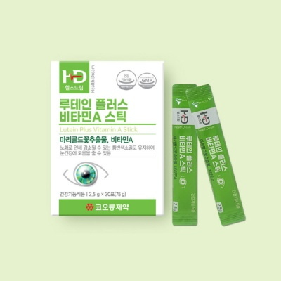코오롱제약 루테인 플러스 비타민A 스틱 1box(30포)