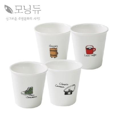 [모닝듀] 일러스트 스몰컵 4P SET