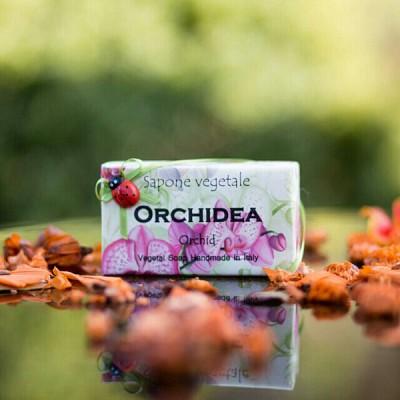 알키미아 천연수제비누 - 오키드(ORCHID) 부드럽고 고귀한 향 무당벌레비누