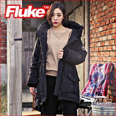 [플루크 패딩] 그리네이드 헤비 야상 패딩 점퍼 블랙 FPJ1521-BLACK FLUKE 15FW