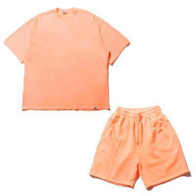 CB 피그 티셔츠 팬츠 셋업 (오렌지)