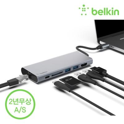 벨킨 F4U092bt USB C타입 멀티 허브 도킹스테이션