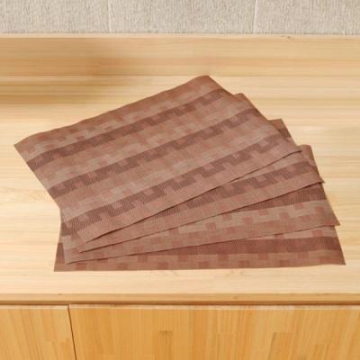 4p 격자무늬 식탁매트 세트(베이지)