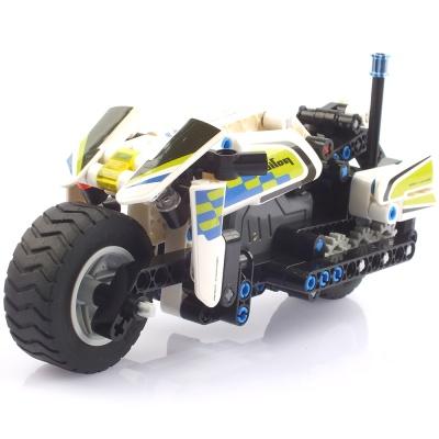 블록테크닉 경찰 오토바이 풀백 작동블록 193PCS